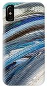 Textured Waves Of Blue IPhone Case