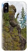 Waving Rock At Yellowstone IPhone Case