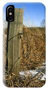 Weathered Old Fence Post IPhone Case