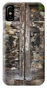 Weathered Wood Door Venice Italy IPhone Case