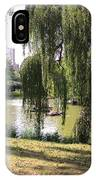 Weeping Willows In Central Park  IPhone Case