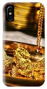 Weighing Gold IPhone Case