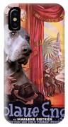 Weimaraner Art Canvas Print - Der Blaue Engel Movie Poster IPhone Case