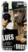 Weimaraner Art Canvas Print - The Blues Brothers Movie Poster IPhone Case