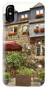 Weinhaus Restaurant Bachrach Germany IPhone Case