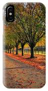 Welcome Home Bradford Pear Lined Drive-way IPhone Case