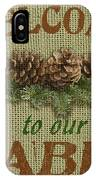 Welcome To Cabin IPhone Case