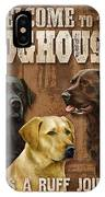 Welcome To The Dog House IPhone Case