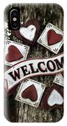 Welcome With Love IPhone Case