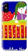 Welsh Snowman Bedtime  IPhone Case