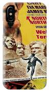 Welsh Terrier Art Canvas Print - North By Northwest Movie Poster IPhone Case