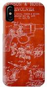 Wesson Hobbs Revolver Patent Drawing From 1899 - Red IPhone Case
