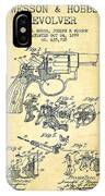 Wesson Hobbs Revolver Patent Drawing From 1899 - Vintage IPhone Case