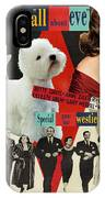 West Highland White Terrier Art Canvas Print - All About Eve Movie Poster IPhone Case