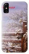 Western Christmas IPhone Case