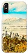 Western Panorama From Mountain At Joshua Tree National Park IPhone Case