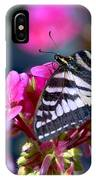 Western Tiger Swallowtail Butterfly On Geranium IPhone Case