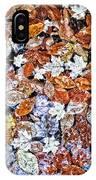 Wet Autumn Leaves IPhone Case