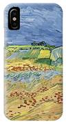 Wheatfield With Stormy Sky IPhone Case