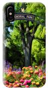 Wheaton Memorial Park IPhone Case