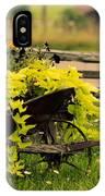 Wheel Barrow Of Flowers IPhone Case