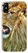 When He Speaks...they Listen...lazy Boy At The Buffalo Zoo IPhone Case