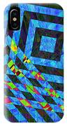 When Squares Merge Blue IPhone Case