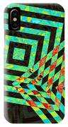 When Squares  Merge Green IPhone Case