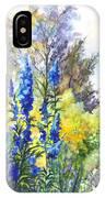 Where The Delphinium Blooms IPhone Case