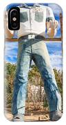 Whered It Go Muffler Man Statue IPhone Case
