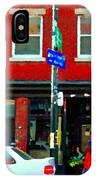 Wheres The Beef On Rue Notre Dame Joe Beef Resto Montreal Urban  Art Scene Carole Spandau IPhone Case