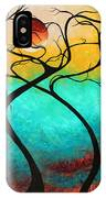 Whimsical Abstract Tree Landscape With Moon Twisting Love IIi By Megan Duncanson IPhone Case