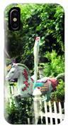 Whimsical Carousel Horse Fence IPhone Case