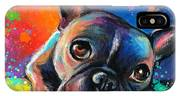 Whimsical Colorful French Bulldog  IPhone X Case