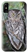 Whiskered Screech Owl IPhone Case