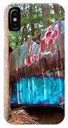 Whistler Train Wreck Box Car Graffiti IPhone Case