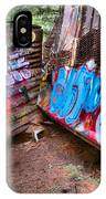 Whistler Train Wreck Covered In Graffiti IPhone Case
