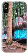 Whistler Train Wreckage Among The Trees IPhone Case