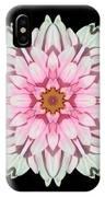 White And Pink Dahlia I Flower Mandala IPhone Case