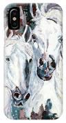 White Arabians IPhone Case