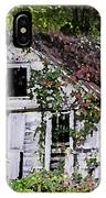 White Barn In Autumn IPhone Case