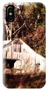 White Barn In Autumn IPhone Case