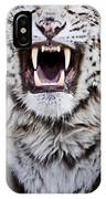 White Bengal Tiger At Forestry Farm IPhone Case