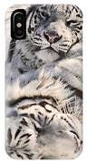 White Bengal Tigers, Forestry Farm IPhone Case