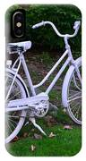 White Bicycle IPhone Case