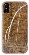 White Birch Trees In The Brown And Orange Forest IPhone Case