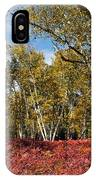 White Birches Of Fall IPhone Case
