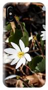 White Bloodroot IPhone Case