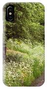 White Bloom Along The Dutch Canal. Netherlands IPhone Case