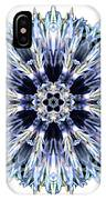 Blue Globe Thistle I Flower Mandala White IPhone Case